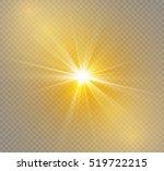 glow light effect. star burst... | Shutterstock .eps vector #519722215