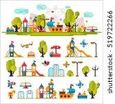 Children Playground. Swings ...