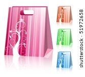 striped shopping bags | Shutterstock .eps vector #51972658