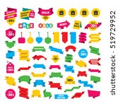web stickers  banners and... | Shutterstock .eps vector #519729952