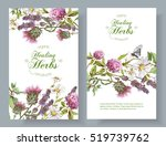 vector vertical wild flowers... | Shutterstock .eps vector #519739762