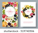 vector fruit and berry banners. ... | Shutterstock .eps vector #519740506