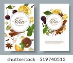 vector aromatic tea banners... | Shutterstock .eps vector #519740512