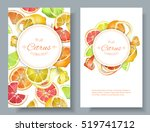vector citrus vertical banners. ... | Shutterstock .eps vector #519741712