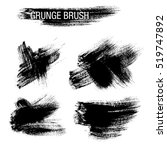 vector set of grunge brush... | Shutterstock .eps vector #519747892