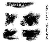 vector set of grunge brush... | Shutterstock .eps vector #519747892