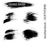 vector set of grunge brush... | Shutterstock .eps vector #519747898
