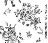 vintage vector floral seamless... | Shutterstock .eps vector #519752266
