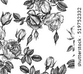 vintage vector floral seamless... | Shutterstock .eps vector #519752332