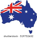 australia map with flag | Shutterstock .eps vector #519752632