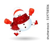 happy boxing day. cute  funny ... | Shutterstock .eps vector #519758506