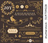 set of christmas and new year... | Shutterstock .eps vector #519759028