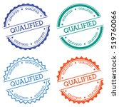 qualified badge isolated on... | Shutterstock .eps vector #519760066