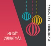 christmas greeting card.... | Shutterstock .eps vector #519764812