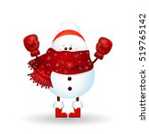 happy boxing day. cute  funny ...   Shutterstock . vector #519765142