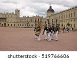 Small photo of Gatchina, Russia - 9 July 2016: Reconstruction of the Gatchina divorce guard the Lifeguards Jaeger Regiment. Lifeguard Jaeger Regiment was a Jaeger regiment of the Russian Imperial Guard (1796 -1917)