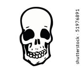 quirky drawing of a skull | Shutterstock .eps vector #51976891