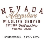 nevada typography  t shirt... | Shutterstock .eps vector #519771292