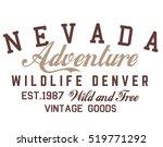 nevada typography  t shirt... | Shutterstock .eps vector #519771292