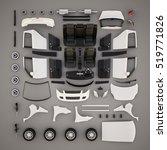car parts.top view. 3d... | Shutterstock . vector #519771826