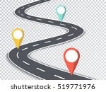 winding road isolated... | Shutterstock .eps vector #519771976