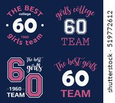 the best girls team college...   Shutterstock .eps vector #519772612