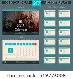 calendar 2017. printable... | Shutterstock .eps vector #519776008