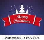 merry christmas vector a banner ... | Shutterstock .eps vector #519776476