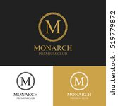 monogram emblem in dark  light... | Shutterstock .eps vector #519779872