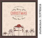 greeting text and sketch... | Shutterstock .eps vector #519780616