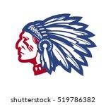 american native chief. vector... | Shutterstock .eps vector #519786382