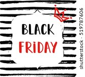 black friday sale poster on... | Shutterstock .eps vector #519787606