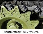 tank tracks and steel wheels of ...   Shutterstock . vector #519791896