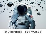 Astronaut In Outer Space Moder...