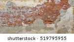 empty old brick wall texture.... | Shutterstock . vector #519795955