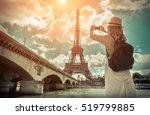 woman tourist selfie near the... | Shutterstock . vector #519799885