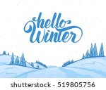 vector illustration  hand drawn ... | Shutterstock .eps vector #519805756