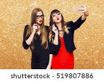 two women having  great time... | Shutterstock . vector #519807886