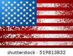 unusual usa flag. snow stripes. ... | Shutterstock . vector #519813832