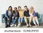 diversity students friends... | Shutterstock . vector #519819955