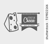 fresh cheese vintage logo ...   Shutterstock . vector #519822166