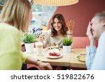 girl telling jokes | Shutterstock . vector #519822676