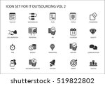 various it outsourcing and... | Shutterstock .eps vector #519822802