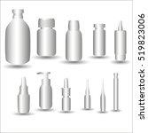 medical vials on a white...   Shutterstock .eps vector #519823006
