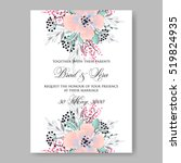 elegance wedding invitation... | Shutterstock .eps vector #519824935