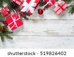 christmas gift box.  christmas... | Shutterstock . vector #519826402