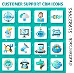 customer support crm square... | Shutterstock . vector #519827992