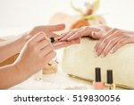 beautician is doing french... | Shutterstock . vector #519830056