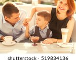 family with son having fun in a ... | Shutterstock . vector #519834136