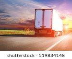 big truck on the road | Shutterstock . vector #519834148